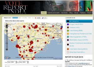 Vote Report. Clique na imagem para acessar o site.